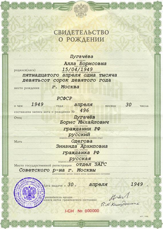 свидетельство о рождении российского образца - фото 4